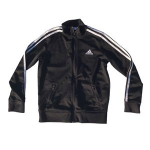 Adidas Classic 3 stripe track jacket zip up